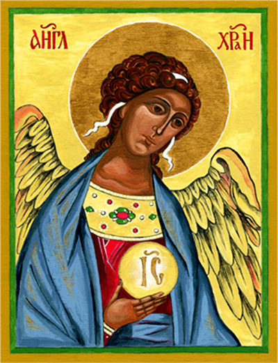Icon — Angel Gabriel by Lynne Beard