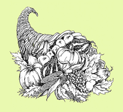 Cornucopia Illustration by Lynne Beard